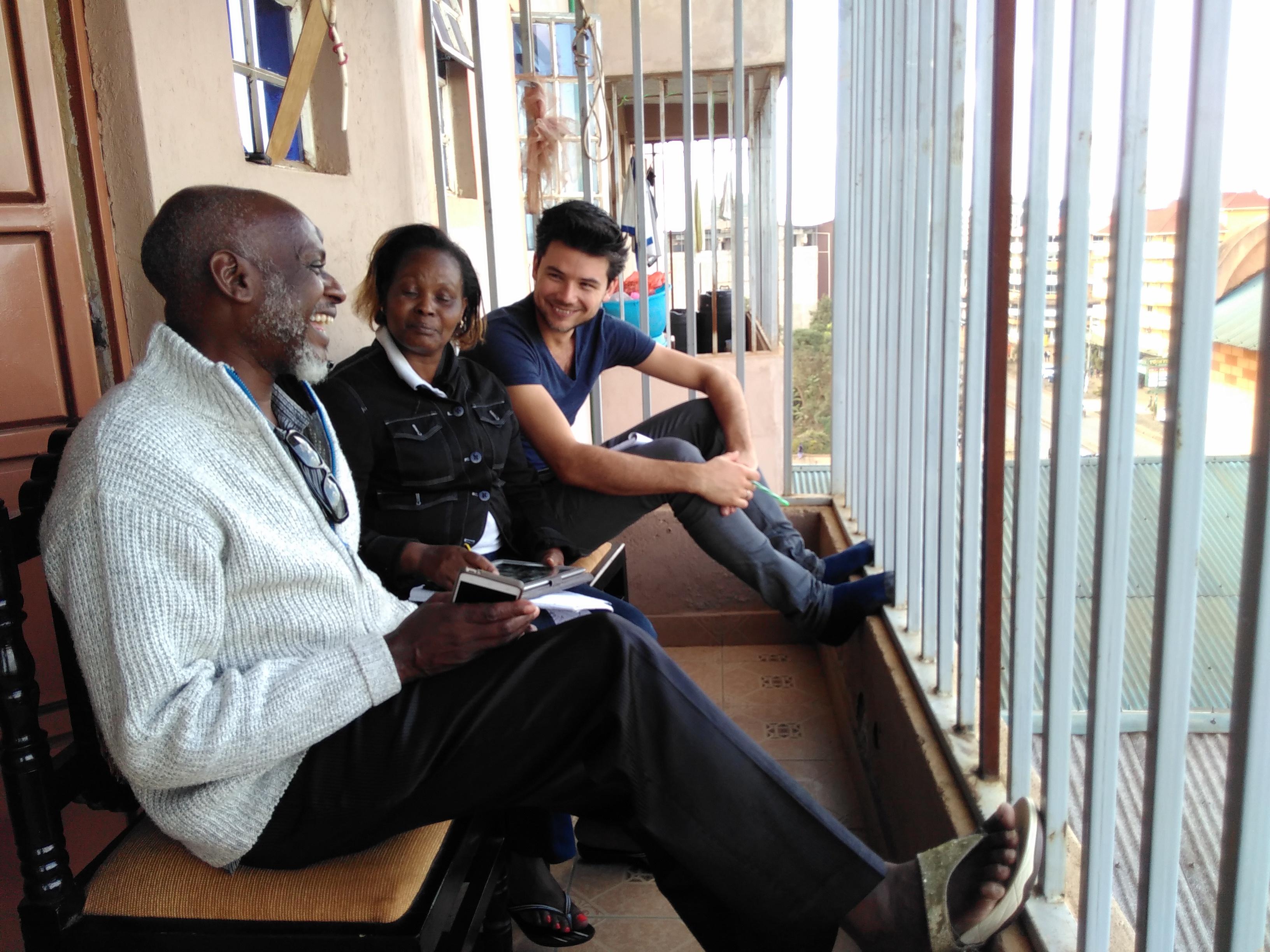 vergadering op het balkon